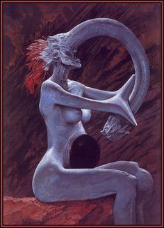 Female Soul in Hell · Inferno · Wayne Barlowe Dark Fantasy, Fantasy Art, Lac Michigan, Wayne Barlowe, Les Aliens, Illustrator, Arte Obscura, Baphomet, Arte Horror