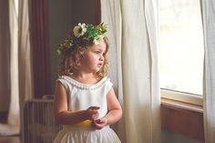 Flower girl head garland. collection by Heather Scharf Photography