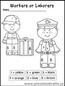 21 best labor day worksheets for kids images on pinterest day care