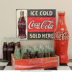 """Coca-Cola Ice Cold Here Metal Sign 