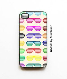 Iphone Case.Shades of Summer. Sunglasses. Bright, Bold, Colors, Rainbow, Patterns