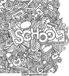 Advanced Doodle Coloring Pages