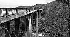 B&W Bridge. White Mountains National Forrest, New Hampshire  Nikon D3100