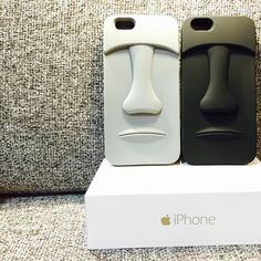 Moai phone case for iphone 6 in grey and black