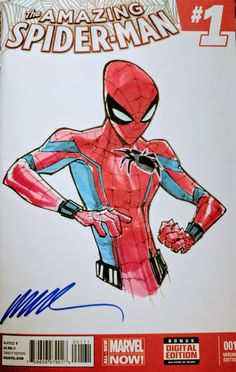 Spider-Man homecoming with drony by Humberto Ramos #HumbertoRamos #sketch #spider man #art #homecoming