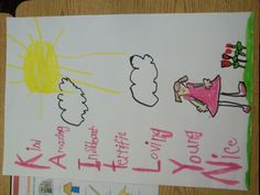 After reading Chrysanthemum by Kevin Henkes, we made these name acrostics.