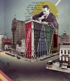 via The Collective Collage, Oleg Borodin Digital Collage, Collage Art, Graphic Design Art, Book Design, Collages, Architecture Collage, Photoshop Design, Adobe Photoshop, Creative Artwork