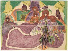 5 minutes with. Aristoloches by Aloïse Corbaz Jean Dubuffet, Artist Journal, Art Brut, Art Sites, Naive Art, Visionary Art, Outsider Art, Impressionist, Folk Art