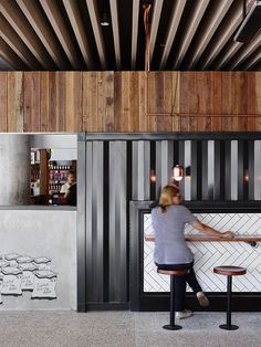 the renovation incorporates traditional food court experiences and contemporary styling, providing a welcome gathering space for visitors and employees alike.