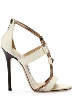 "Jimmy ""Vapour"" Stud T-Strap Sandals $950 Fall 2013 #Choos #Heels #Shoes"
