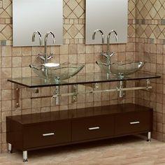 DreamLine glass bathroom vanity
