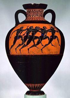 Pre-Alexandrian Greece: Greek pottery vase, ca. 530 b. Archaic Attributed to the Euphiletos Painter Greek, Attic Terracotta Ancient Greek Art, Ancient Greece, Egyptian Art, Ancient Aliens, Ancient Egypt, 7 Arts, Greece Art, Art Periods, Greek History