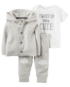 19abf73431a2 3-Piece Babysoft Little Jacket Set. Carters Baby Boy ClothesNewborn Winter Clothes  GirlAdorable ...