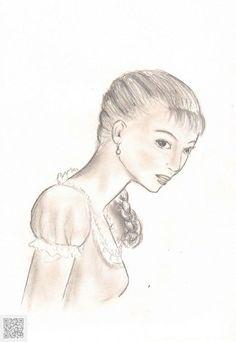 Jeune fille slave. Artiste: Inès Martin Creations, Plaits, Sketching, Black White, Daughter, Artist