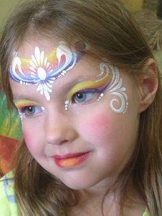 When you think about face painting designs, you probably think about simple kids face painting designs. Many people do not realize that face painting designs go Princess Face Painting, Girl Face Painting, Face Painting Tips, Face Painting Designs, Painting For Kids, Paint Designs, Face Paintings, Rainbow Face, Unicorn Makeup