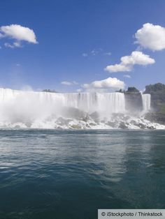 The American Falls looks lovely and magnificent on its own, but even more when it's viewed with the Horseshoe Falls and Bridal Veil Falls, which all make up the Niagara Falls.
