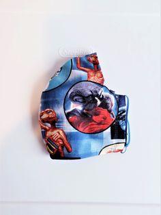 Face Mask MEN ET with filter and nose wire strip, Unisex licensed ET Reusable mask Masked Man, Art Dolls, Unisex, Face, Men, Faces