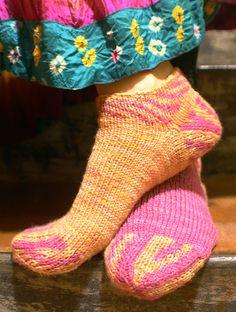 Ravelry: Sunberry socklet pattern by Lynn DT Hershberger
