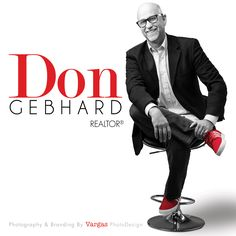 Blog — Vargas PhotoDesign  Branding and photography session with Realtor Don Gebhard. Don is recognized in his business and personal circle by the red shoes he wears. Something we share in common :-).  Our goal was a simple contemporary look in black and white with Red as the pop color. Real Estate Business Cards, Real Estate Logo, Real Estate Marketing, Realtor Business Cards, Real Estate Branding, Selling Real Estate, Real Estate Tips, Logo Real, Business Photos