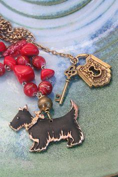 Dog jewelry Dog necklace Scottie Dog Terrier Dog by IRISHTREASURE Dog Jewelry, Funky Jewelry, Unusual Jewelry, Royal Jewelry, Animal Jewelry, Vintage Jewelry, Handmade Jewelry, Gothic Earrings, Gothic Jewelry