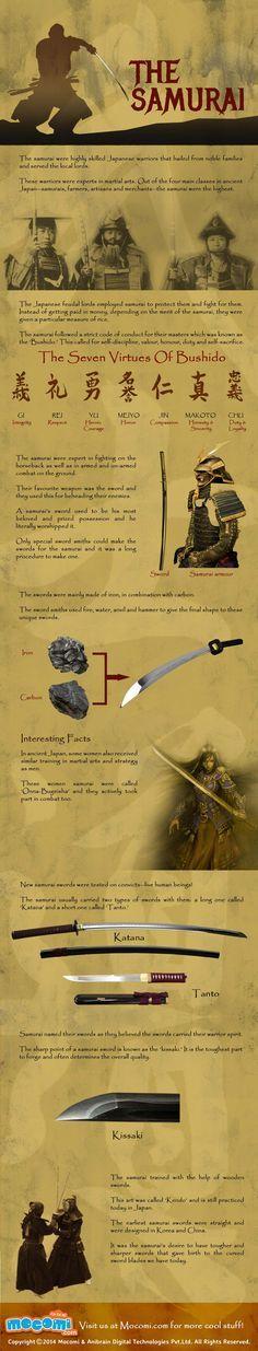 The Samurai #infographic                                                                                                                                                                                 Más