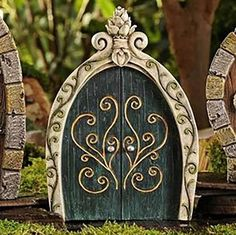 Bring Good Luck To Your Life! What is a Fairy Door? A Fairy Door is a miniature door that provides Fairies, Gnomes, Pixies, and all the magical wee folk an easy portal into your home and garden. An ideal magical accent that adds whimsy and enchantment to any setting. A miniature fairy door will make an unusual garden gift for your favorite gardener! By inviting the little magical creatures in to your life, they bring good luck. You can place fairy doors anywhere - on a wall, fireplace…