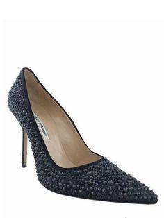 8215559f47ff Manolo Blahnik BB Crystal Satin Pumps Size 11. Fashion For Womens High Heels