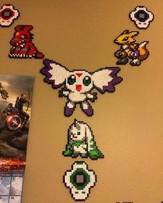 Digimon perler beads by speedyspencar