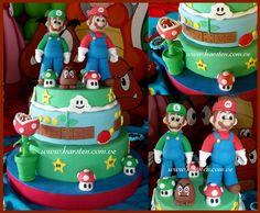 Torta de Mario y Luigi