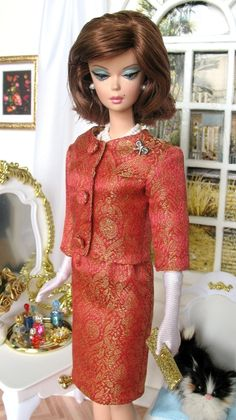Barbie as Jackie O - Rose ensemble