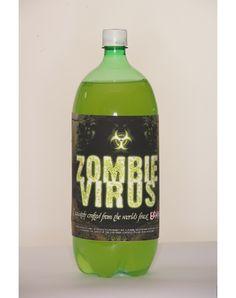 Zombie Virus - Halloween soda labels.