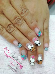 nail designs for short nails nail designs for short nails 2019 kiss nail stickers nail appliques nail art strips nail designs for short nails nail designs for short nails 2019 self adhesive nail stickers nail art sticker stencils nail art stickers online Trendy Nail Art, Cute Nail Art, Cute Nails, Pretty Nails, Disney Acrylic Nails, Disney Nails, Nail Art Designs, Nailart, Animal Nail Art