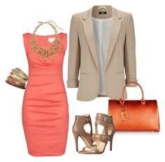 Coral Crazed by fashionforwarded on Polyvore featuring polyvore fashion style Nicole Miller Wallis Ivanka Trump Jil Sander Oscar de la Renta clothing