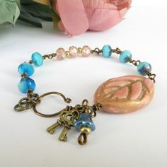 Pink and Turquoise Bracelet £18.00
