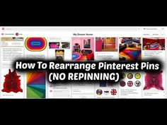 Rearrange Pinterest Pins Within A Pinterest Board (WITHOUT REPINNING OR MOVING) - YouTube