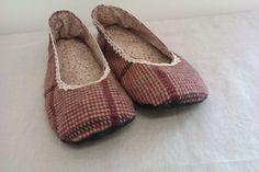 Vintage Fabric Handmade Slippers