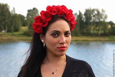 Купить Ободок с розами - разноцветный, розы, ободок с розами, ободок с цветами, обруч на голову