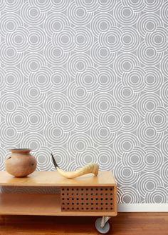 Crop Circles wallpaper by Aimee Wilder Accent Wallpaper, Interior Wallpaper, How To Hang Wallpaper, Wall Wallpaper, Pattern Wallpaper, Wallpaper Ideas, Kitchen Pantry Wallpaper, Crop Circles, Mid Century Modern Art