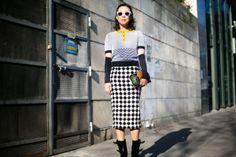 Moda en la calle en la Semana de la Moda de París febrero 2014 © Josefina Andrés