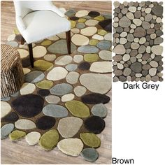 nuLOOM Hand-carved Stones and Pebbles Wool Rug (5' x 8') - Overstock™ Shopping - Great Deals on Nuloom 5x8 - 6x9 Rugs