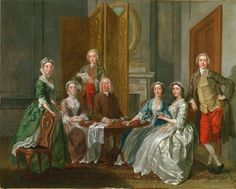 Giclee Print: Colonel Andrew Bissett and His Family, 1708 by Enoch Seeman : A4 Poster, Poster Prints, Huntington Library, Dutch Painters, China Painting, Painting Frames, Art Museum, Photo Wall Art, Oil On Canvas