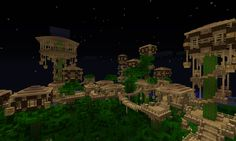 Images of minecraft jungle house - Minecraft Houses Survival, Minecraft Plans, Minecraft Houses Blueprints, Minecraft House Designs, Minecraft Creations, House Blueprints, Minecraft Stuff, Minecraft City, Amazing Minecraft
