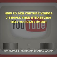 Thinking of Dominating the YouTube world with your videos. Here are 7 FREE Simple Strategies that you can learn on How to SEO Youtube Videos. They are easy to follow tactics and really simple to implement. So go ahead and start YouTubing Away! You Videos, Affiliate Marketing, Seo, Insight, Blogging, Social Media, Education, Learning, Simple