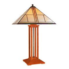Mission table lamp by Stickley.