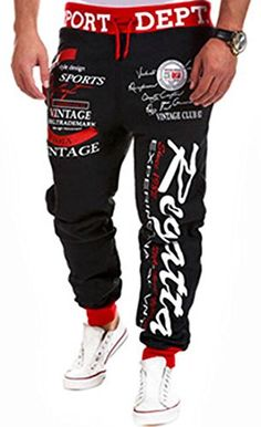Mega Shop | jeansian Men's Casual Printing Sport Baggy Jogger Long Pant S376