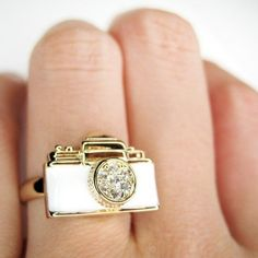 #smileswithlove on Artfire                          #ring                     #Adjustable #Camera #Ring #White #Gold #With #Rhinestone #Detail              Adjustable Camera Ring in White on Gold - With Rhinestone Detail                                        http://www.seapai.com/product.aspx?PID=760648