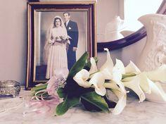 #ramo de #novia #vintage de hermosas #callas frescas, trabajo realizado en el atelier de #grace