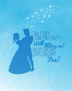 disney frozen marry me... anna and hanz..   love is an open door..digital