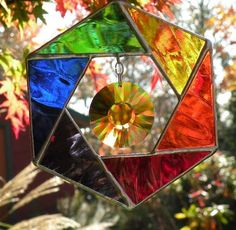 RAINBOW STAINED GLASS by ravenglassgirl on Etsy, $40.00