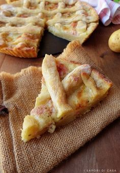 Tart potatoes with ham and mozzarella Good Food, Yummy Food, Tasty, Mozzarella, Cottage Cheese Salad, Antipasto, Quiches, Creative Food, Bruschetta